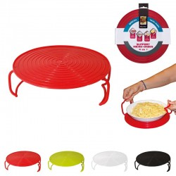 Grossiste et fournisseur. Support assiette micro-ondes rouge