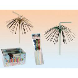 Grossiste pailles plastiques décorées