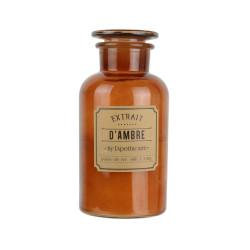 Grossiste bougie apothicaire - d10.2xh20.5cm marron