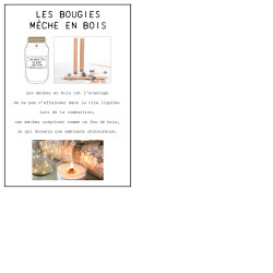Grossiste bougie The Lab Concept 1957 avec couvercle en liège - 8.5cm