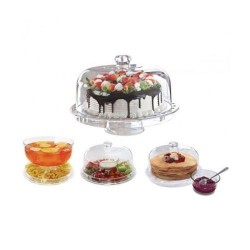 Wholesaler and supplier. Glass cake stand with dome lid