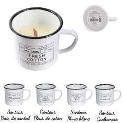 Grossiste bougie mug emaille LAB