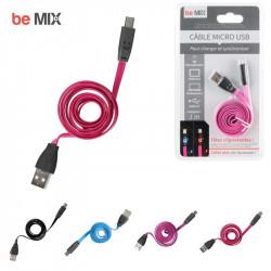 Grossiste et fournisseur. Câble micro USB LED rose pour charger et synchroniser