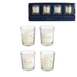 Grossiste bougie en verre x4 shine like a star