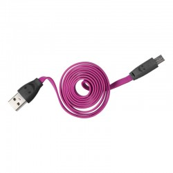 Grossiste et fournisseur. Câble micro USB LED violet pour charger et synchroniser