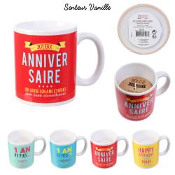 Grossiste bougie mug anniversaire