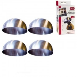 Wholesaler and supplier. Set of 4 stainless steel silver shaper domes