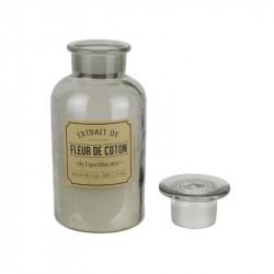 Grossiste bougie apothicaire - d10.2xh20.5cm gris