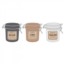 Grossiste bougie pot apothicaire - 7.3x7.3x10cm