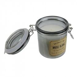 Grossiste bougie pot apothicaire - 7.3x7.3x10cm noire