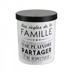 Grossiste bougie en verre 7.7x9.5cm famille