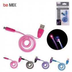 Grossiste et fournisseur. Câble plat lumineux micro USB rose