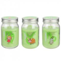 Grossiste bougie Mason jar spécial astrologie verte