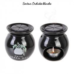 Grossiste brûle-parfum avec cire parfumée Little Market noir