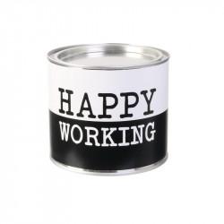 Grossiste bougie pot métal spécial travail noire et blanche