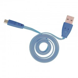 Light up micro USB flat cable