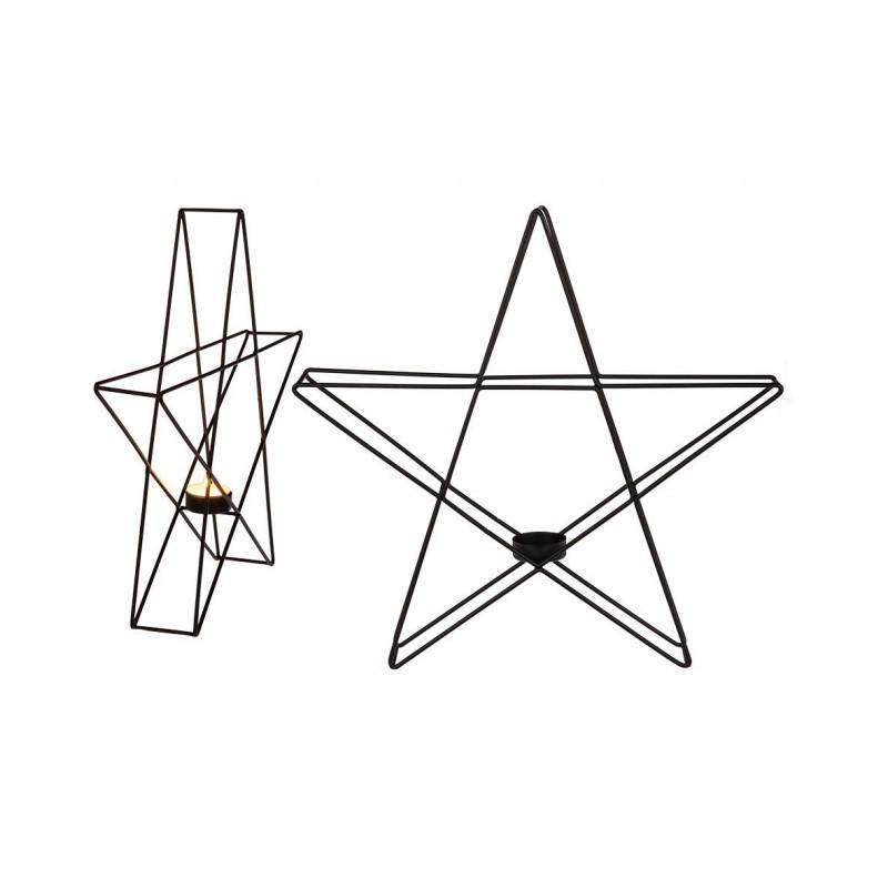 Grossiste bougeoir en métal en forme d'étoile