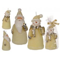 Grossiste bougie figurine de noël couleur crème