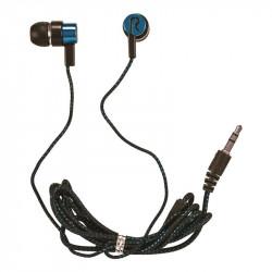 Nylon-cable stereo earphones