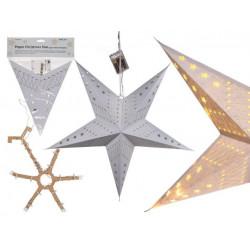 Grossiste étoile de noël en papier avec 10 led 60 cm