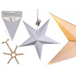 Grossiste étoile de noël en papier avec led 60 cm