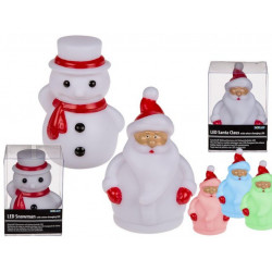 Grossiste père noël et bonhomme de neige avec led à changement de couleur