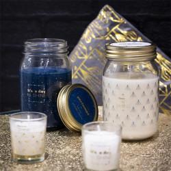 Grossiste bougie parfumée Mason jar senteur orchidée blanche