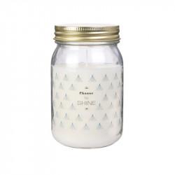 Grossiste bougie parfumée Mason jar blanche senteur orchidée blanche