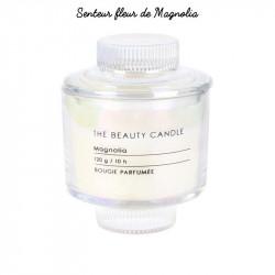 Grossiste bougie écrin The Beauty Candle en verre blanche
