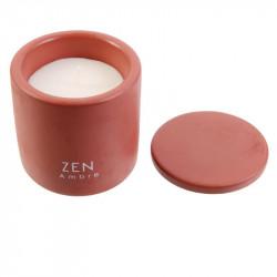 Grossiste bougie pot en ciment coloré - 9x7.7cm rouge terre