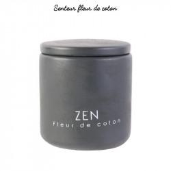 Grossiste bougie pot en ciment coloré - 9x7.7cm grise