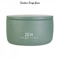Grossiste bougie pot en ciment coloré - 8.5x13cm verte