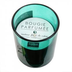 Grossiste bougie en verre spécial auteur - 9.2x7.5cm verte