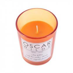 Grossiste bougie en verre spécial auteur - 9.2x7.5cm orange