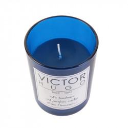 Grossiste bougie en verre spécial auteur - 9.2x7.5cm bleue