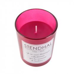 Grossiste bougie en verre spécial auteur - 9.2x7.5cm rose
