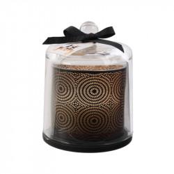 Grossiste bougie cloche noir style spa chic - 13x11cm