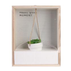Grossiste étagère avec decoration succulente