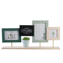 Grossiste cadre photo x3 avec plante artficielle