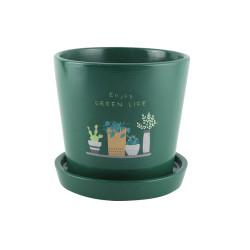 Grossiste pot de fleur terracota kaki