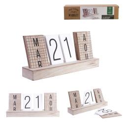 Grossiste calendrier perpetuel 4 parties en bois