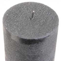 Grossiste bougie cylindre à paillettes grise