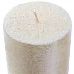 Grossiste bougie cylindre à paillettes argentée