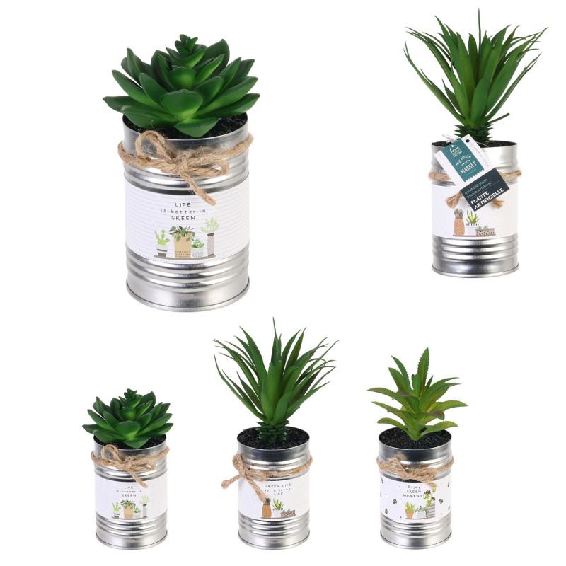Grossiste plante artificielle dans un pot en métal little market