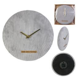 Grossiste horloge velours cotelé gris 40cm