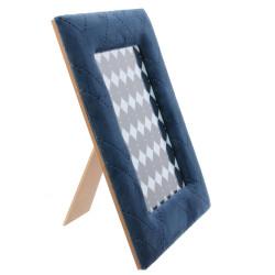 Grossiste cadre photo de velours - 13x18cm bleu