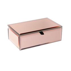 Grossiste boite à bijoux miroir en cuivre