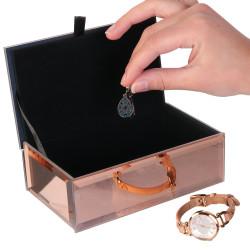 Grossiste boite à bijoux miroir en cuivre intérieur