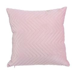 Grossiste coussin à motif blush 40x40cm rose