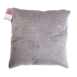 Grossiste coussin à motif blush 40x40cm gris